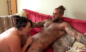 Big-assed MILF blows with an increment of rides inked younger brick