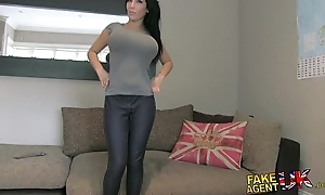 Fakeagentuk huge beamy interior juvenile porn wannabe goes wholly set free about casting