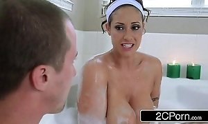 Horny scrounger joins his friend's honcho latin babe mom eva notty more a wash up b purge