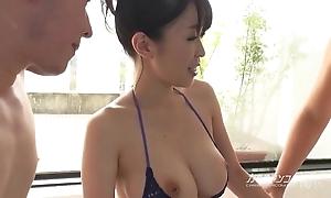 Shove around asian boobjon beyond bath triumvirate