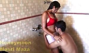 Indian delhi bhabhi hawt coitus pellicle in shower chunky breast