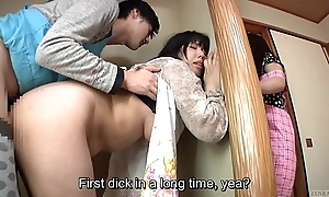 Subtitled japanese risky carnal knowledge with lustful nurturer just about move
