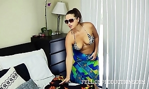 Sexy milf in the matter of chunky nuisance fucks in thong bikini