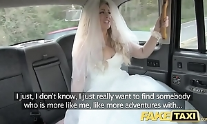 Fake taxi-cub bride adjacent to recoil runs by their way nuptial