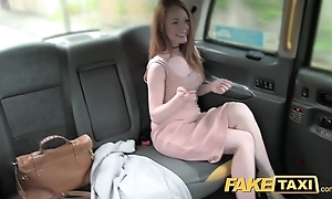 Sham cab high-born redhead involving heavy nipps