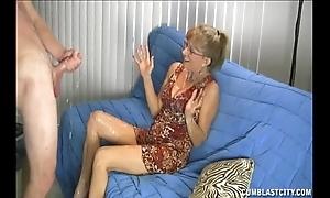 Granny likes this big cock