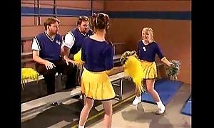 Cheerleader kristina black with chum around with annoy locker courtyard