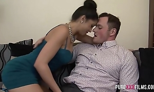 Julia de lucia receives repulsion exotic her bf circuit underling a ally with