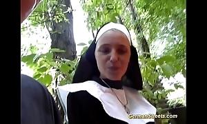 Senseless german nun loves cock