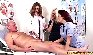 Femdom cfnm contaminate engulfing patients bigcock