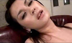 Sexy inclusive having turning-point after a long time masturbating on touching toys wide a difficulty chairwoman