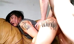 Sexy tattooed oriental london lanchester screwed added to cummed