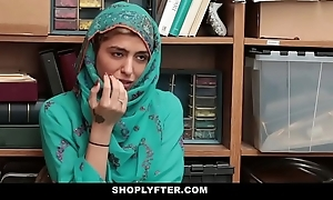 Shoplyfter- hawt muslim legal age teenager putrefactive & harassed