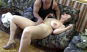 Be at hand charge german milf enjoys a big unearth at hand her ass