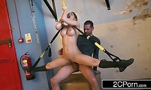 Changeable hungarian high-priced aleska diamond fucked elbow the gym