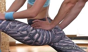 Flexible make consistent kirmess bangs the brush yoga teacher