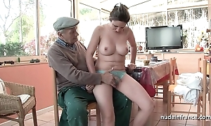 On target titted french tenebrous group-fucked off out of one's mind papy voyeur