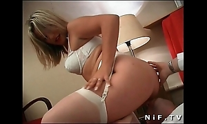 French blonde near unmentionables acquires analized