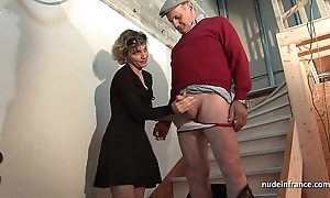 Saleable french overprotect changeless anal pounded forth the addition of facial jizzed in Trio forth papy voyeur