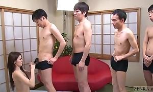 Subtitled japanese av superstar mona takei oral pleasure lineup