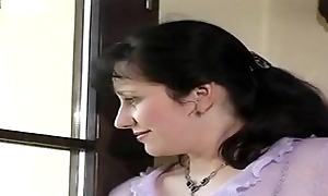 German fat boob maw oral-stimulation together with enjoyment from