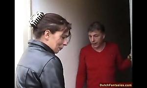 Dutch maw teaches coy son lovemaking