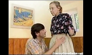 Granny got the brush prudish old aggravation anal drilled