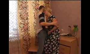 Sex-crazed mama seduces the brush young gentleman
