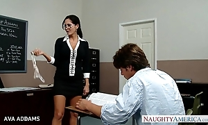 Instructor near glasses ava addams acquires beamy tits screwed
