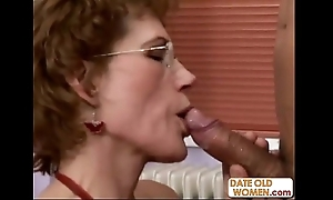 Smashing older woman plus younger pupil