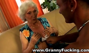 Grown up granny acquiring drilled away from a expansive cock