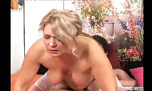 Granny seduces the brush young friend