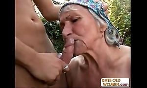 Nasty hairy granny bonks