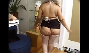 Of age milf granny fro deviant hardcore making love feigning