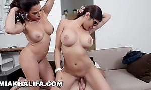 Mia khalifa - featuring beamy bosom milf julianna vega... nigh cum shot!