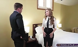 Sex hungry blonde arrogance proprietress offers the brush mean ass