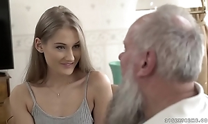 Teen belle vs grey granddad - tiffany tatum increased by albert