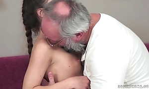 Teenie anita bellini acquires drilled apart from a granddad