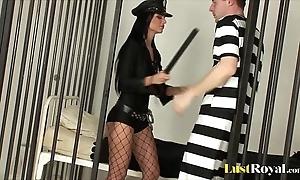 Dispirited constable starless angelika inspects a bondman