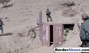 Half-starved latina permanent gagging upon border testimony cock
